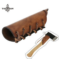 TOURBON Leather Axe Handle Grip Guard Collar Hold Holster Protect Cover in USA