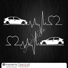 0641 | Herzschlag Astra G 5-Türer  Satz Aufkleber | Sticker Opel OPC GSI
