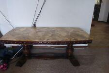 Vintage Marble Top Coffee Table 56 x 31 x 22