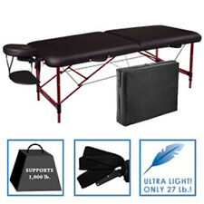 "Master 28"" Zephyr Portable Folding Massage Table Package- Black"