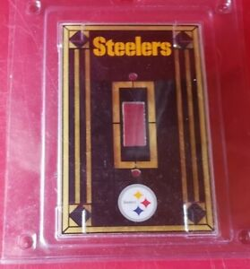 Pittsburgh Steelers Art Stained Glass Light Single Switch Plate Cover NFL