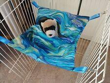 Ferret Hideaway Hammock - Blue, Green, Purple Watercolor