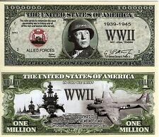 Gen George S. Patton WWII Commander Million Dollar Bill
