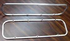 """BIG BLOCK CHEVY  3/8"""" Valve Cover Spacers CUT FROM SOLID BILLET  natural finish"""