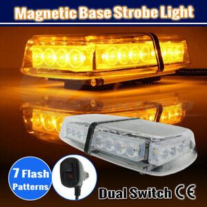 24 LED Emergency Vehicle Beacon Strobe Amber Light Bar Flashing Warning Lamp 12V