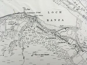 1924 Edition Topographical Map of the Isle of Arran. Argyllshire CCXXV.