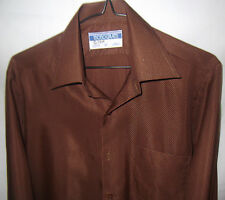 MONOGRAM Mens Long Sleeve Vintage Business Shirt size 37
