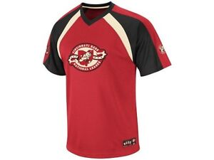 NEW MLB Cincinnati Reds Majestic Coop Fireball Vneck Shirt Jersey