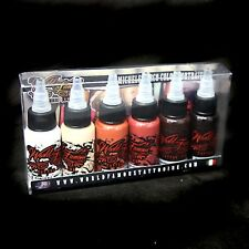 World Famous Tattoo Ink Set -MICHELE TURCO Set - 6 bottles / 1oz (Simple Colors)