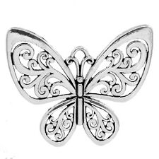 5 Pendentifs breloque Papillon Filigrane 5.7x5cm B23301