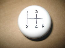 "4 speed shifter shift knob WHITE 5/16""-18 Morris Austin Mini Triumph MG Midget"