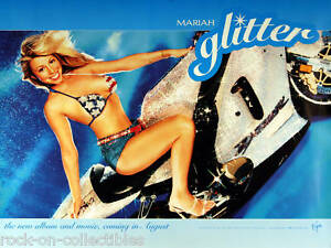 Mariah Carey 2001 Glitter Motorcycle Original Promo Poster