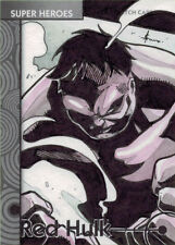 Marvel Fleer Retro 2013 Sketch Card #33 Red Hulk by Juno Sanchez