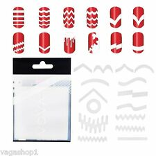 French Manicure Nails White Guides Stickers 10 Sets Nail Art Designs Nailart