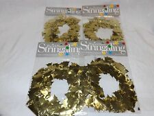 Garland Gold Bells Metallic Wire Set of 4 NIP 36ft for Christmas or 50th Anniver