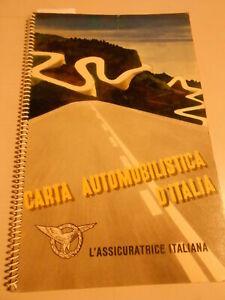 CARTA AUTOMOBILISTICA D'ITALIA - L'ASSICURATRICE ITALIANA collezionismo