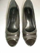 Womens Brown East 5th Shoes Heels Pumps Peep Toe Open Size 8M 8 M