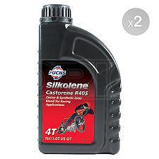Silkolene Castorene R40S Castor Base 4T Racing Bike Engine Oil 1 Litre