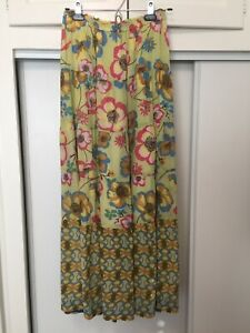 Johnny Was Silk Floral Maxi Skirt sz S