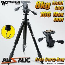 Professional 1.66m Tripod for CANON NIKON Digital Camera DSLR w/ 3 Way Pan Head