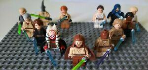 Lego Star Wars Minifiguren Verschiedene Jedi Ritter mit Zubehör