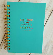 New Pretty Journal Diary FASHION STYLE IS ETERNAL Turquoise Gold Yves St Laurent