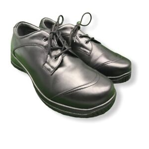 Drew Hope Womens US 11W Lace Up Comfort Black Work Oxfords Excellent Retail $130