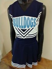 New listing BULLDOGS Cheerleader Uniform Outfit Costume Adult L, XL. Authentic. Made in USA