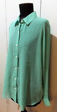 Immaculate Size 14 Sportscraft Green Polyester Women's Blouse- 60cm Bust