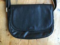Umhängetasche cross body bag Picard vintage schwarz Leder 60er vintage Tasche