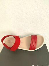 "NIB WOMEN ECCO SANDALS/FOOTWEAR ""FLOWT W"" COMFORT SANDAL RED EU40/ US 9-9.5"