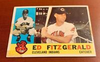 1960 Topps # 423 Ed Fitzgerald Cleveland Indians Baseball Card