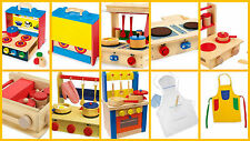 Childrens Wooden Play Kitchens Mobile Suitcase Journeys Portable Small Kitchen