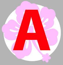 JEUNE CONDUCTEUR FLEUR ROSE DISQUE OBLIGATOIRE 15cm AUTOCOLLANT STICKER (AA135)