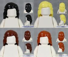 LEGO - 4x Female Hair Lot - Braided Long Black Brown Blonde Dark Orange Girl Wig