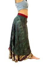 Gypsy skirt Long wrap silk skirt BOHO GYPSY SKIRT Maxi skirt  FREE POST to UK