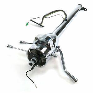 """33"""" GM Style Chrome Steering Column w/ Wheel Tilt + Shifter  Hot Rod Rat Street"""