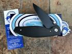 RARE TRM Three Rivers Manufacturing ATOM DLC Knife, Matte Carbon Fiber, CPM-20CV