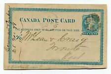 Canada ONT Ontario - Berlin 1871 Split Ring / CORK Cancel - Stationery Postcard