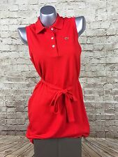 Womens Red Lacoste polo shirt tennis dress size 10 42