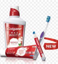Colgate Max White Toothbrush & Whitening Pen + Toothpaste + Mouthwash White