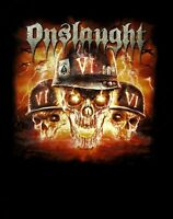 ONSLAUGHT cd cvr CHAOS IS MY KING - VI Official SHIRT LAST XXL 2X New OOP
