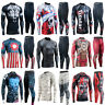FIXGEAR-Skin-tight-Compression Long Sleeve Bottom Set Base Layer MMA rash guard