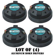 """Lot of (4) Pyle PDS122 1.5"""" Aluminum Horn Drivers 8 Ohm 1-3/8"""" x 18 TPI DJ Pro"""