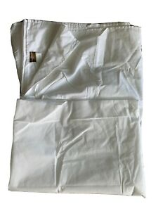 Tommy Bahama Queen Solid Pleated 1-Piece White Sateen Cotton Bedskirt