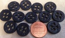 "12 Dark Navy Blue Plastic Nautical Anchor Buttons 5/8"" 16mm # 7124"