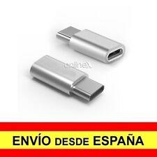 Adaptador Micro USB Hembra a USB 3.1 Tipo C Macho Conector Conversor Gris a2979