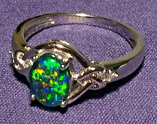 "Opal Rings Genuine Australian Natural ""Gem Grade"" Triplets Sizes 6.5 to 7.5 US"