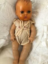 """Vintage 1950's Tiny Tears 11"""" American Character Drink & Wet Doll w/Outfit"""