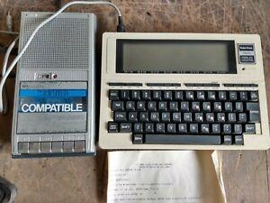 VINTAGE RADIO SHACK TRS-80 MODEL 100 PORTABLE COMPUTER+ CASSTTE RECORDER W/ CASE